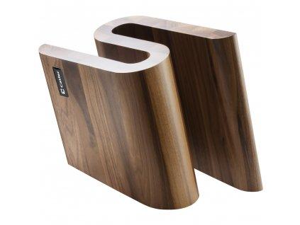 Blok na nože, magnetický, ořechové dřevo, CATLER