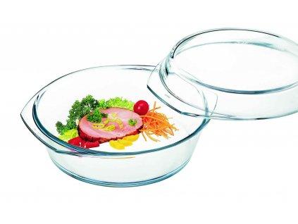 Pekáč s víkem 1,5+0,6 l z varného skla, kulatý 20 cm, SIMAX