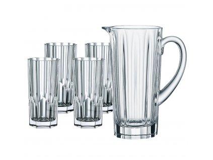 Sada 4 křišťálových sklenic a džbánu Aspen, Nachtmann
