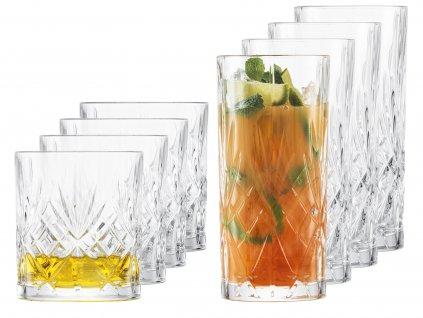 37535 sklenice na longdrink a rum nebo whisky show 2x4ks cisty kristal schott zwiesel