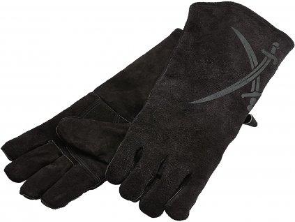 Kožené grilovací rukavice černé 2ks, RÖSLE