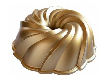 Forma na bábovku Swirl vodní výr zlatá 2,4 l , NORDIC WARE