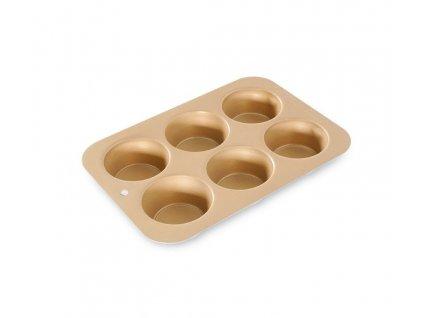 Forma na Muffiny se 6 formičkami zlatá, NORDIC WARE