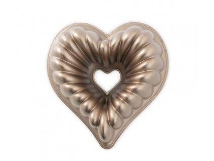 Forma na bábovku Srdce karamelová 2,4 l , NORDIC WARE