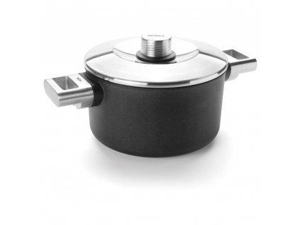Hrnec nepřilnavý kulatý 20 cm 3l kovová držadla, Diamond Logic Pro XR, WOLL
