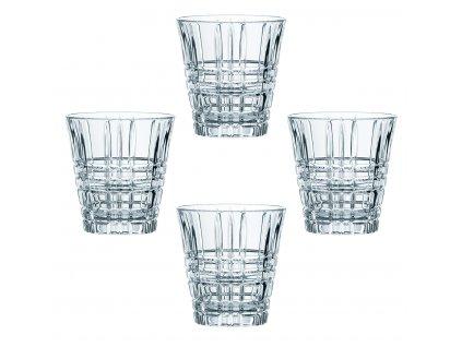 Křišťálové sklenice na Džus SQUARE 4ks 260 ml, Nachtmann