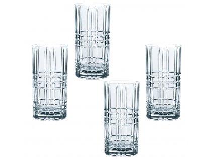 Křišťálové sklenice na Longdrink SQUARE 4ks 445 ml, Nachtmann