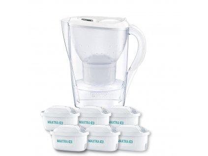 Filtrační konvice Marella Memo 2,4 l bílá + 6 filtrů a ručník, BRITA
