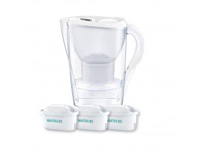 Filtrační konvice Marella Memo 2,4 l bílá + 3 filtry, BRITA