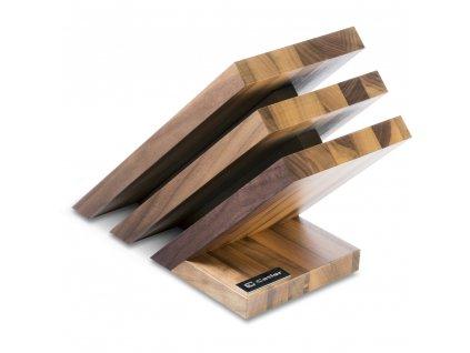Blok na nože VENTO magnetický, ořechové dřevo, CATLER