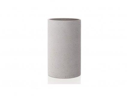 65596 Betonová váza COLUNA světle šedá 24 cm, BLOMUS 1
