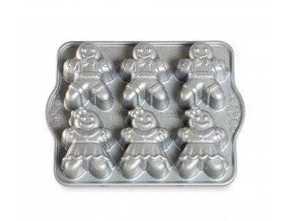 Forma na 6 báboviček Perníkové postavičky stříbrná 1 l, NORDIC WARE