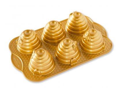 Forma na Včelí úly 6 ks zlatá 0,71 l, NORDIC WARE