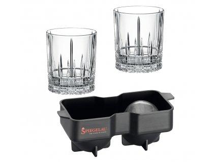 Sklenice na Rum a Whisky Perfect Serve 2ks 368 ml + forma na led, SPIEGELAU