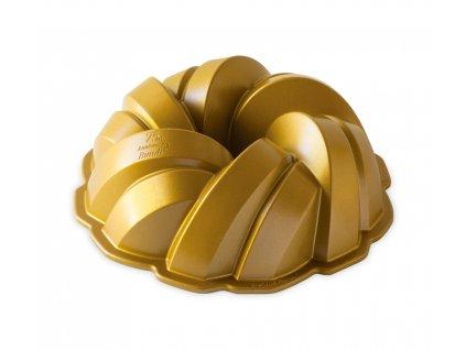 Forma na bábovku Anniversary 75th Propletená zlatá 2,4 l ,NORDIC WARE