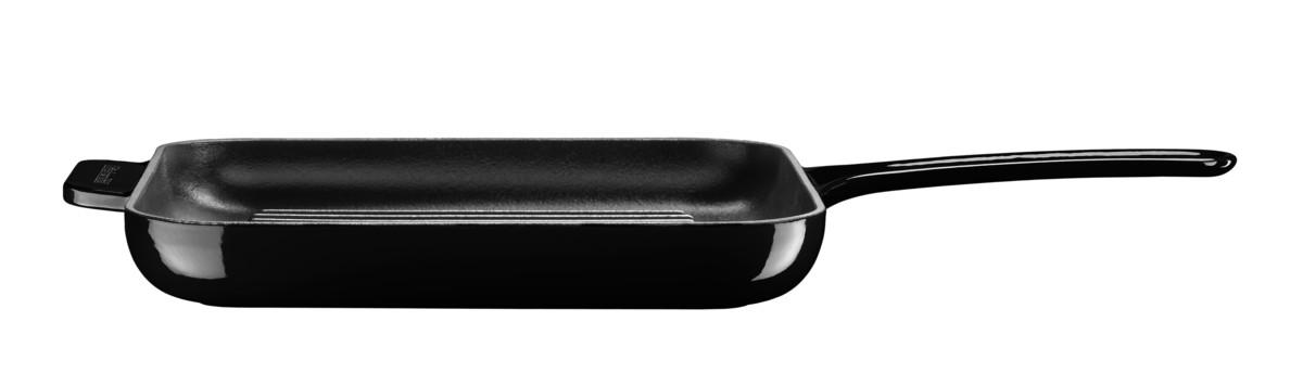 Gril & panini pánev s poklicí litinová černá 24 cm, KitchenAid