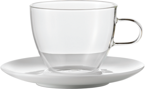 Sada šálků na Cappuccino s podšálkem, 250ml, série Concept, set.2ks, JENAER GLAS
