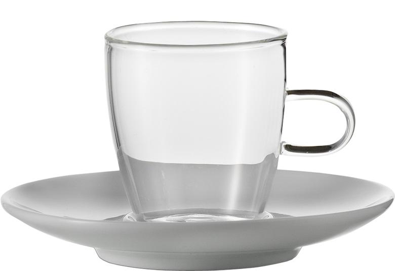 Sada šálků na coffee s podšálkem, 250ml série Concept, set.2ks, JENAER GLAS
