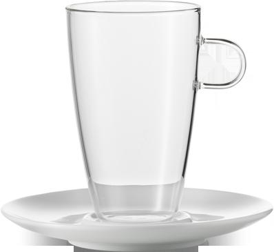 Sada šálků na Latte s podšálkem, 500ml série Concept , set.2ks, JENAER GLAS