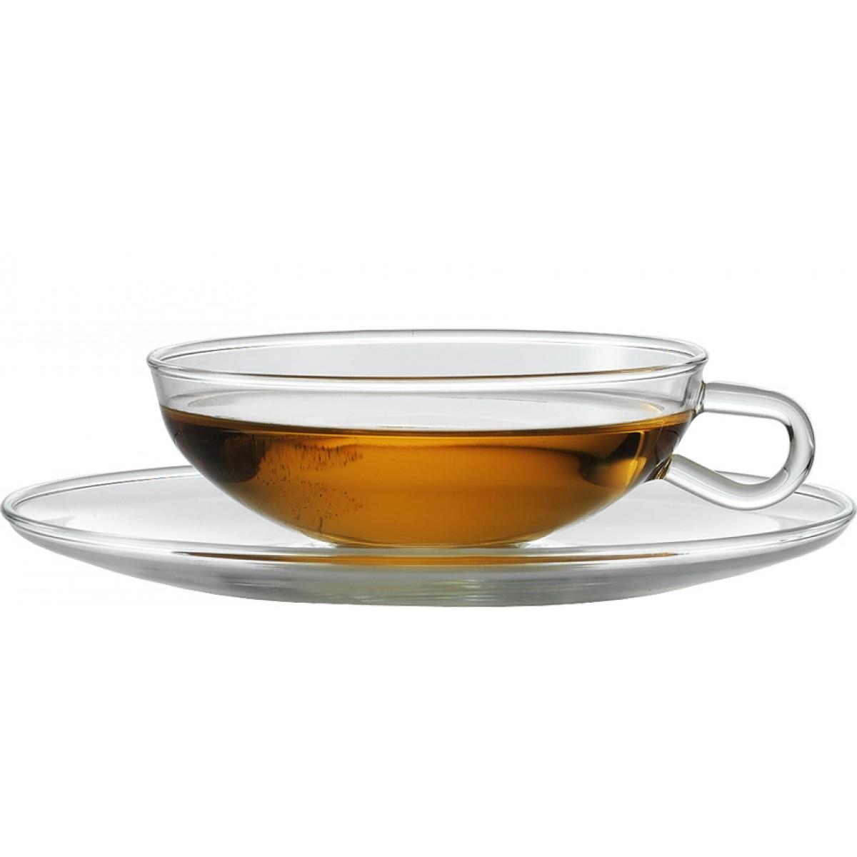 Šálek na čaj, kávu, včetně podšálku, 150ml, design Wilhelm Wagenfeld, bal.2ks, JENAER GLAS
