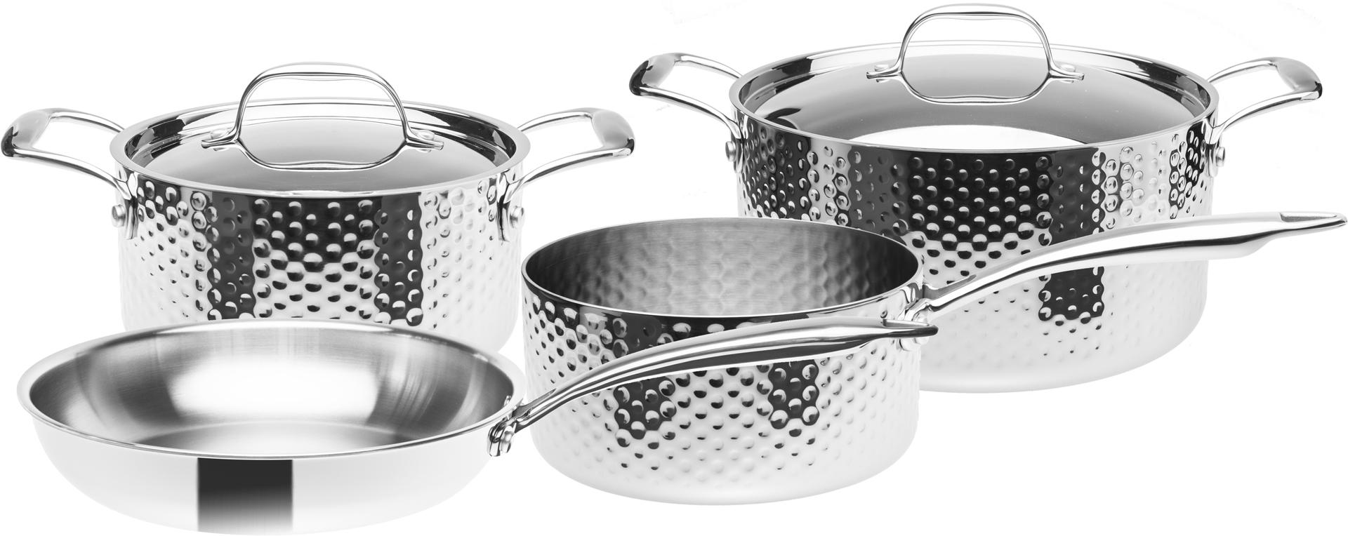 Sada nerezového nádobí, 3vrstvé, indukční, 6 dílná, STEIN