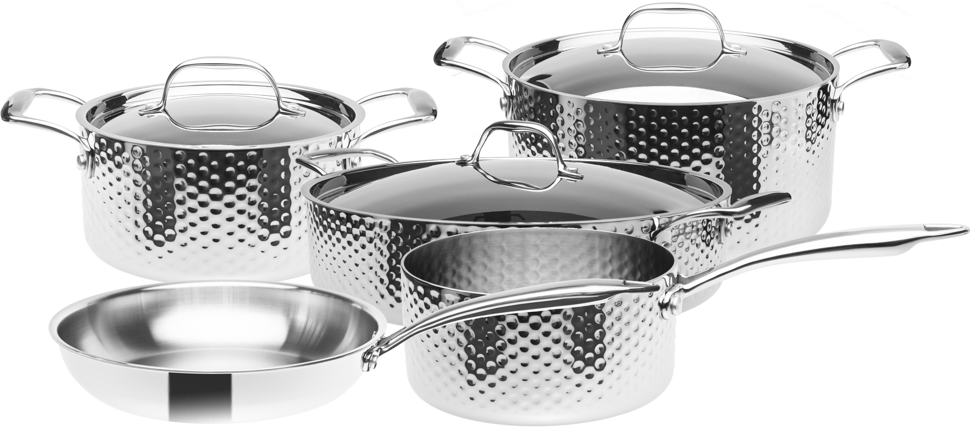 Sada nerezového nádobí, 3vrstvé, indukční, 8 dílná, STEIN