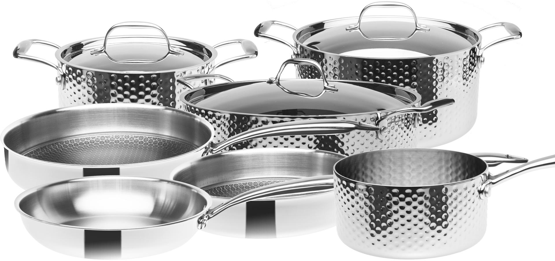 Sada nerezového nádobí, 3vrstvé, indukční, 10 dílná, STEIN