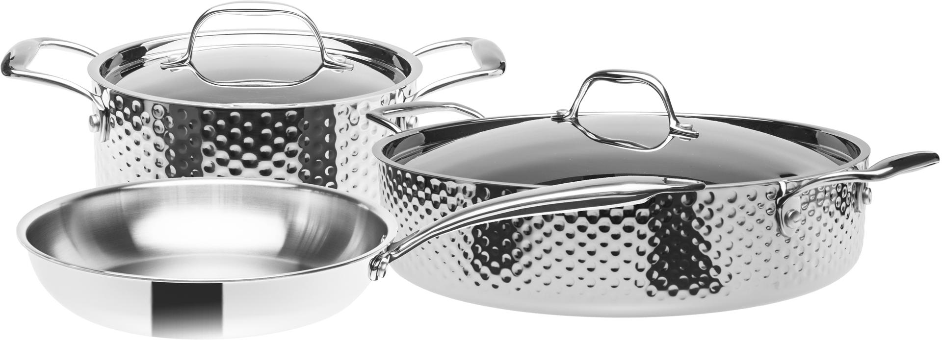 Sada nerezového nádobí, 3vrstvé, indukční, 5 dílná, STEIN