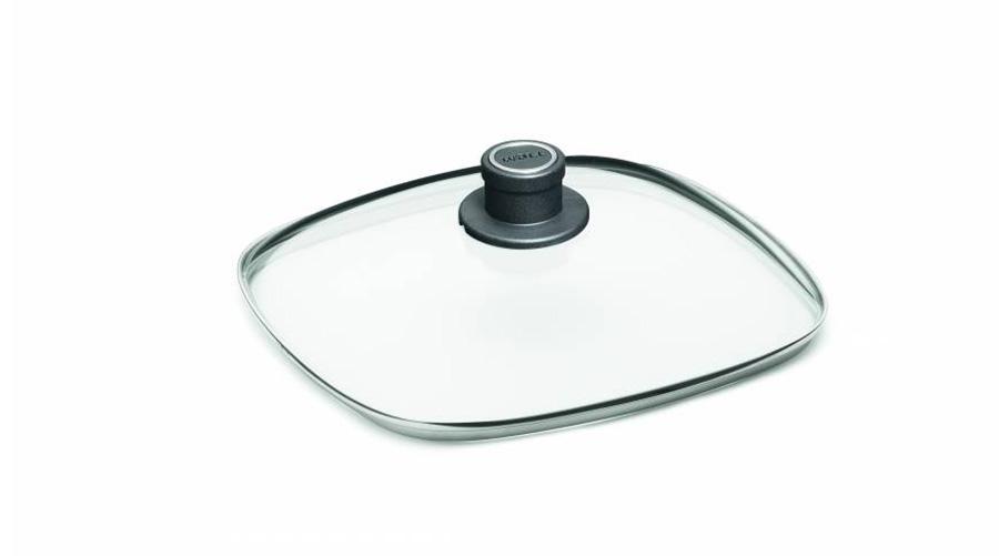 Skleněná poklice čtvercová z bezpečnostního skla, WOLL Velikost: 24x24cm