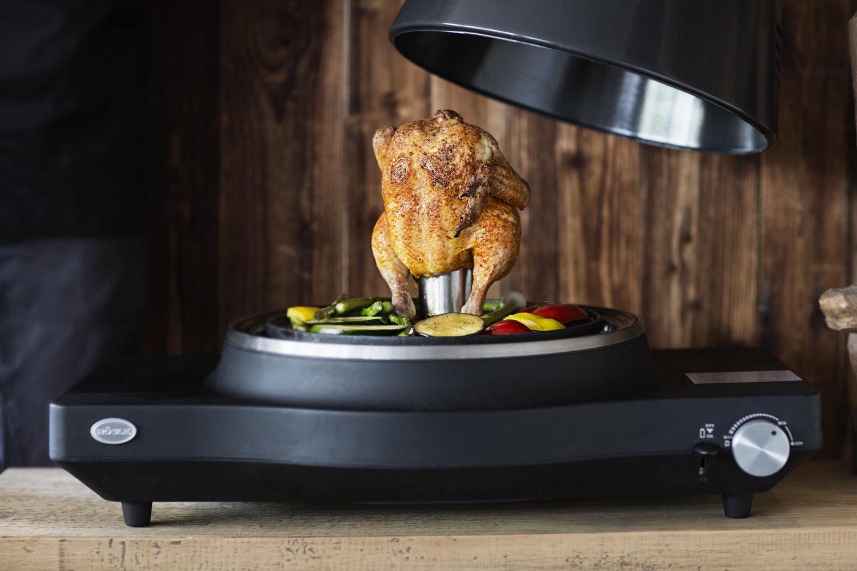 Grilovací stojan na kuře, na 250ml kapaliny, nerez ocel, RÖSLE