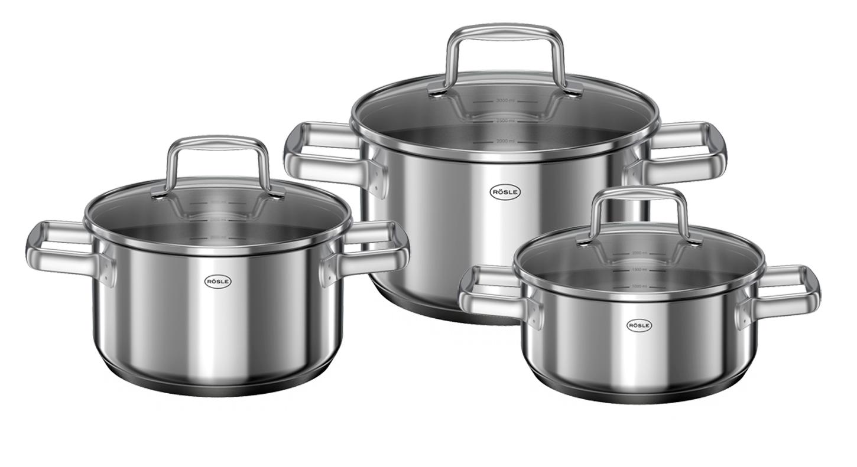 Sada nerezového nádobí MOMENTS, indukční 3ks, RÖSLE