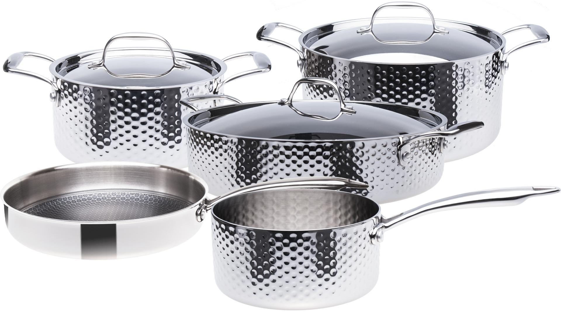 Sada nerezového nádobí, 3vrstvé, indukční, 9 dílná, STEIN