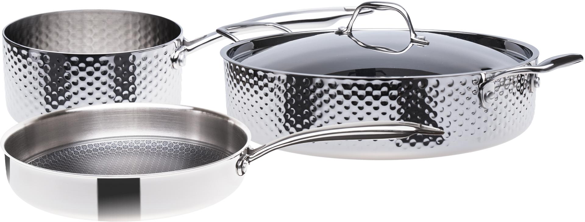 Sada nerezového nádobí, 3vrstvé, indukční, 4 dílná, STEIN