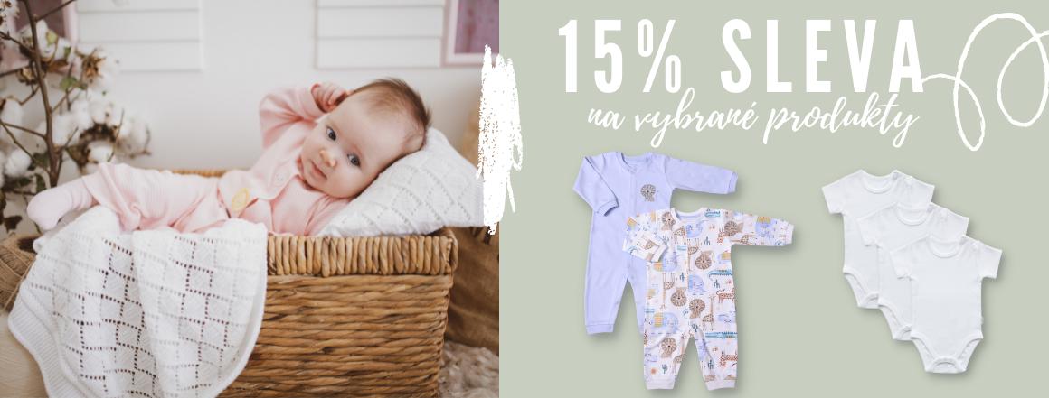 15% sleva na vybrané dětské oblečení