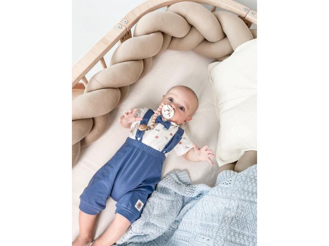 Souprava 2dílná chlapecká-námořnické body s límečkem a kraťásky s kšandami MARINE_S94664