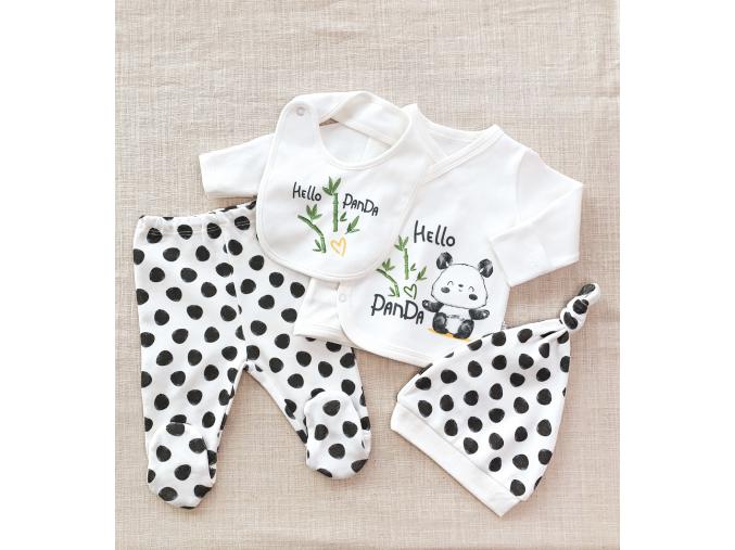 Souprava 4dílná pro novorozence Panda_S03089