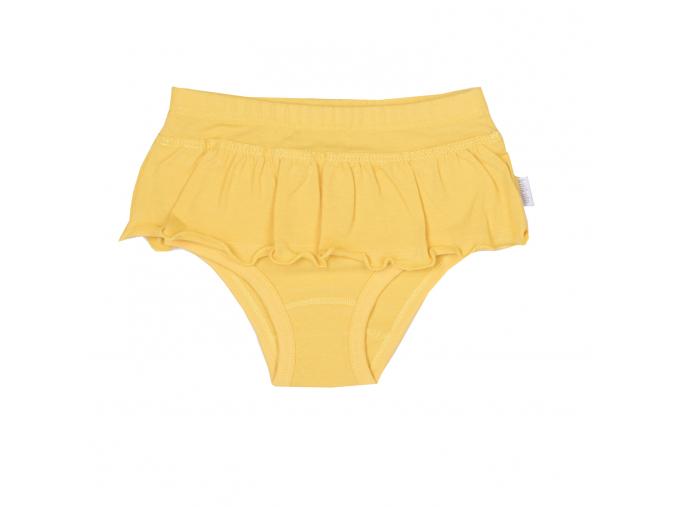 Dívčí kalhotky s volánkem_S88533 (Barva & Vzor SVĚTLE ŽLUTÁ, Velikost 12 - 18 MĚSÍCŮ)