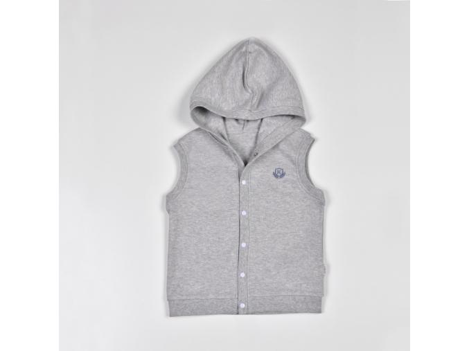 Dětská šedá vesta s kapucí ACTIVE_S11619