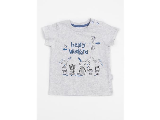 Tričko chlapecké s krátkým rukávem Happy Weekend_S06400