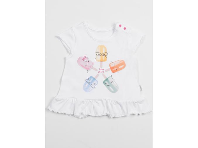 Tričko s krátkým rukávem a volánkem Love Juice_S06486