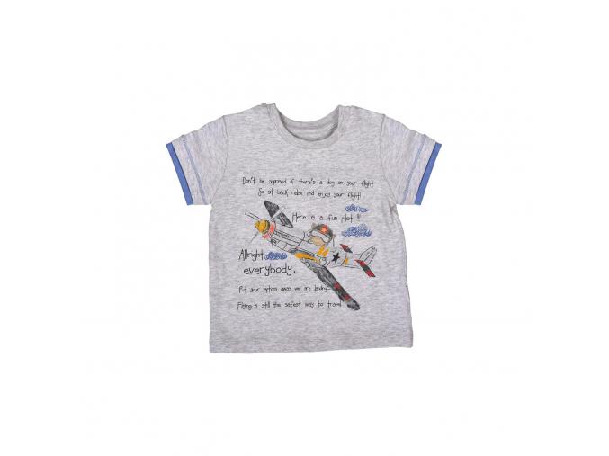 Tričko chlapecké s krátkým rukávem - letadlo_S06448