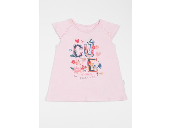 Tričko dívčí s krátkým rukávem CUTE_S07643