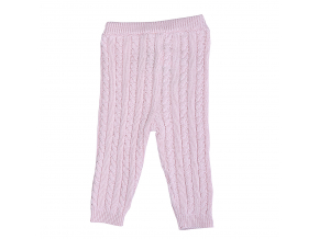 Kalhoty pletené s copánkovým vzorem_S61277 (Barva & Vzor RŮŽOVÁ, Velikost 12 - 18 MĚSÍCŮ)