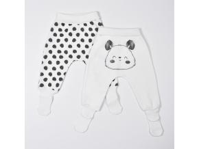 Sada 2 polodupaček s ponožkami - panda_S14566