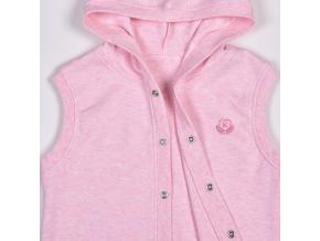 Dětská růžová vesta s kapucí ACTIVE_S11558