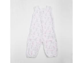 Overal dětský mušelínový bez rukávů - plameňáci_S15204
