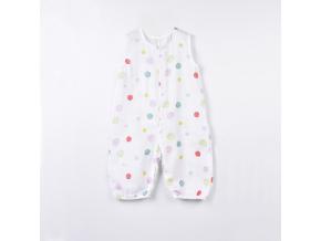 Overal dětský mušelínový bez rukávů - barevné skvrny_S15020