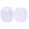 Sada 2 párů rukaviček DREAMS_S18738 (Barva & Vzor MODRÁ/BÍLÉ HVĚZDIČKY, Velikost standard)