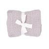 Deka pletená s plastickými vzory - čtverce_S22599 (Barva & Vzor TMAVĚ ŠEDÁ, Velikost 100 x 78 CM)