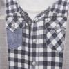 Overal chlapecký - šedé kalhoty s kšandami a kostkovanou košilí 3D_S31089 (Velikost 12 - 18 MĚSÍCŮ)